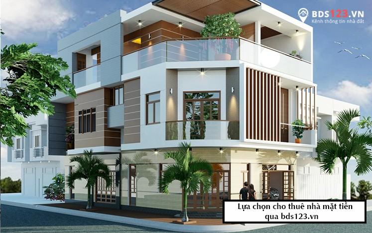 Lựa chọn cho thuê nhà mặt tiền qua bds123.vn