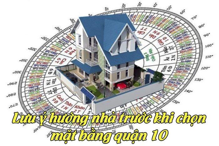Lưu ý hướng nhà trước khi chọn mặt bằng quận 10